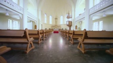Hall of Evangelical Lutheran Cathedral — Stock Video
