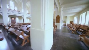 Aisle in Evangelical Lutheran Cathedral — Stock Video