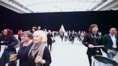 People during ceremony of rewarding winners — Stock Video