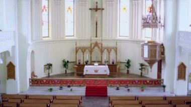 Altar in Evangelical Lutheran Cathedral — Stock Video