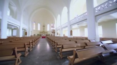Panorama of Evangelical Lutheran Cathedral — Stock Video