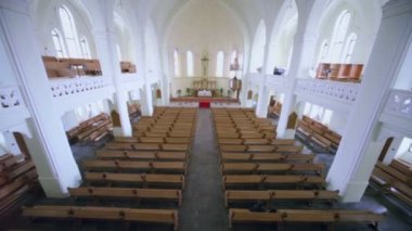 Inside Evangelical Lutheran Cathedral — Stock Video