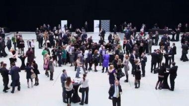 People before start ceremony of rewarding — Stock Video