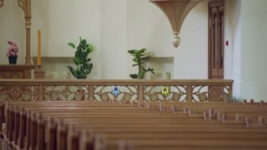 Pulpit in Evangelical Lutheran Cathedral — Stock Video