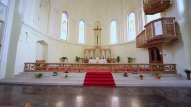 Crucifixion in Evangelical Lutheran Cathedral — Stock Video