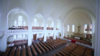 Main hall in Evangelical Lutheran Cathedral — Stock Video