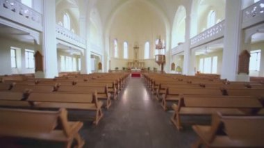 Crucifix in Evangelical Lutheran Cathedral — Stock Video