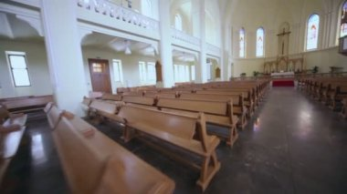 Hall in Evangelical Lutheran Cathedral — Stock video