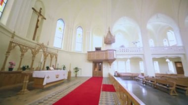 Chancel in Evangelical Lutheran Cathedral — Stock Video