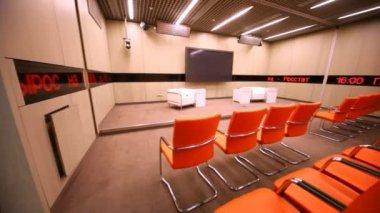 Small conference room in RIA Novosti — Stok video