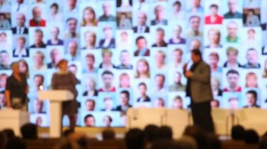Staff of RIA Novosti gets award — Stock Video
