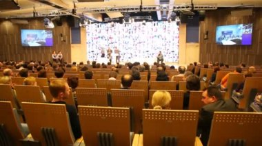 RIA Novosti staff receiving awards — Stock Video