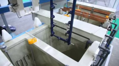Galvanic baths  at Expo Coating — Stock Video