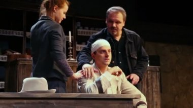 S.Fedotov director of Cripple from Inishmaan — Stock Video