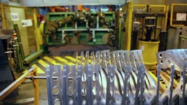 Storage of car component at factory — Stock Video