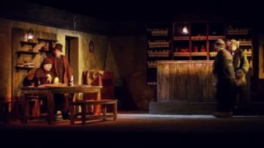Scene from play Cripple from Inishmaan — Stock Video