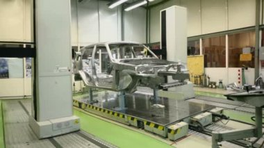 Equipment for accurate measurement of car — Stock Video