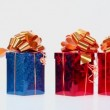 Red and blue gift boxes — Stock Video #65786583