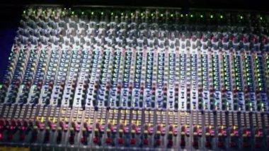 Professional audio mixer runs — Stock Video