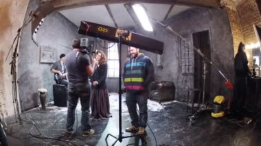 Puppet Brain video shooting — Vídeo stock