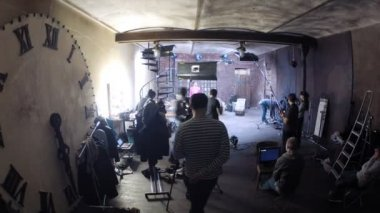 Man video shooting for videoclip — ストックビデオ