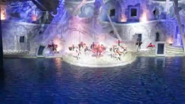 Dancers dancing, sportives performing — Stock Video