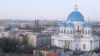 Beautiful aerial view of Sankt Petersburg — Stock Video
