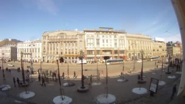 People walking on Nevsky prospekt — Stock Video