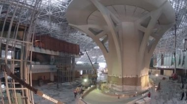 Construction of airport control tower — Stock Video