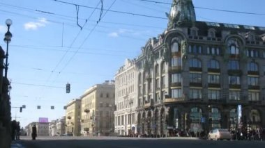 Nevsky Prospekt in Sankt Petersburg — Wideo stockowe