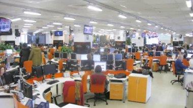 Office room at RIA Novosti — Stock Video