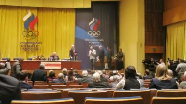 Russian Olympic committee awards — Stock Video