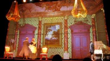 Actors performing Treasure Island — 图库视频影像