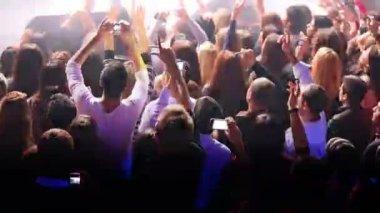 Crowd of spectators on concert of Arash — Stock Video