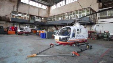 Spacious hangar Centrospas squad in Zhukovsky — Stock Video