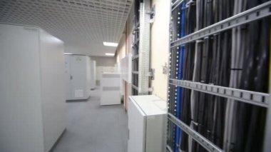 Servers equipment in data center — Stock Video