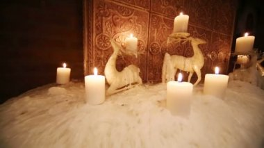 Deer shaped candle — Vídeo stock