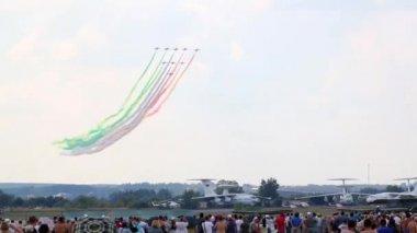 Spectators look at Nine CF-339 — Stock Video