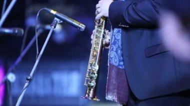 Alexander Brill plays at concert — Stockvideo