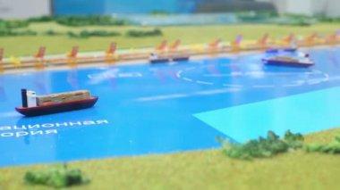 Miniaturowe modele statków — Wideo stockowe
