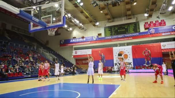 Olympiakos and Lokomotiv-Kuban play basketball — Vidéo