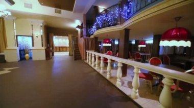 Interior of empty hall at restaurant — Stock Video