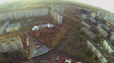 Panorama of megalopolis with dwelling houses — Stock Video