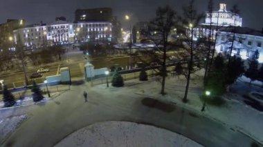 City traffic on Suvorov square — Stock Video