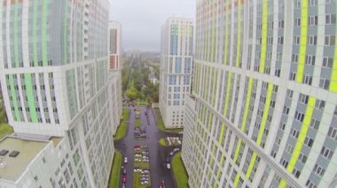 Group of blocks in city neighborhood — Stockvideo