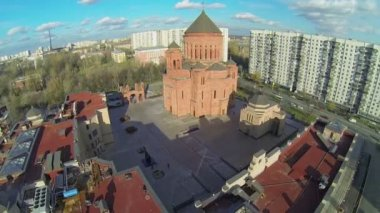 Cathedral Armenian church Surb Khach — Stock Video