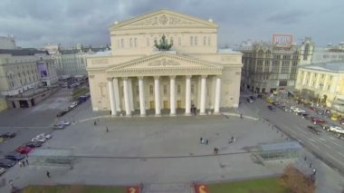 Edifice of Bolshoy Theater and Central Universal Shop — Stock Video