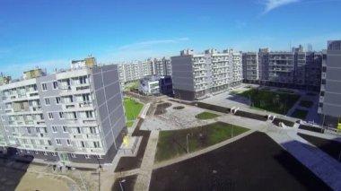 Construction site of dwelling complex Romashkovo — Stock Video