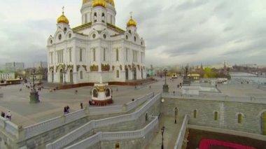 Christus der erlöser-kathedrale — Stockvideo