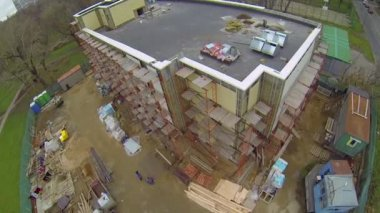 Building site in Moscow — Stock Video